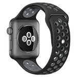 Sport Plus Silicone Band Strap - Apple Watch 38 / 40mm - Black / Grey